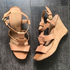 GENTLY WORN Strappy wedges.